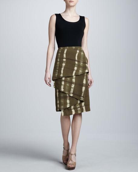 Printed Linen Blanket Skirt