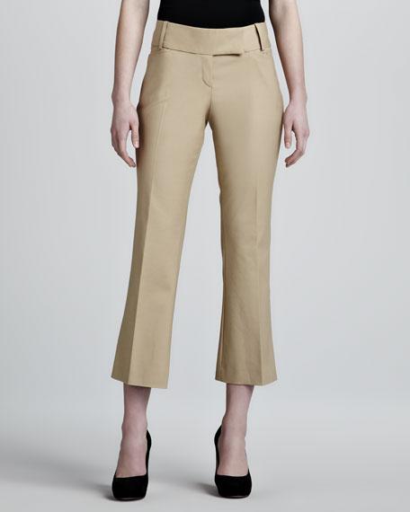 Cropped Tab-Waist Pants