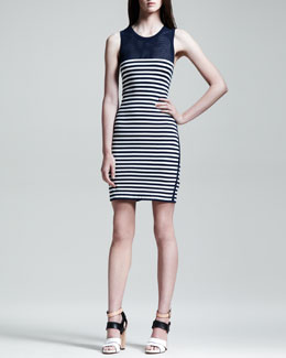 Rag & Bone Giselle Mesh-Inset Striped Dress
