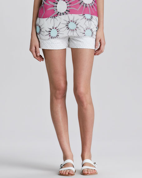 Fabiola Eyelet Shorts
