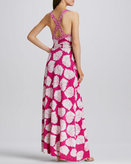 Samson Halter Printed Maxi Dress