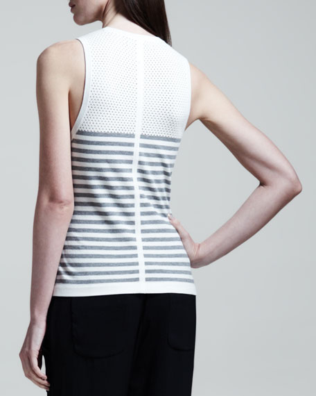 Giselle Perforated Striped Tank