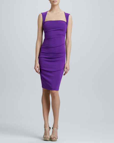 Square-Neck Cocktail Dress