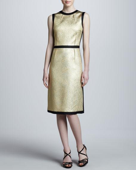 Metallic Crewneck Dress