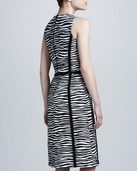Zebra-Print Contour Dress