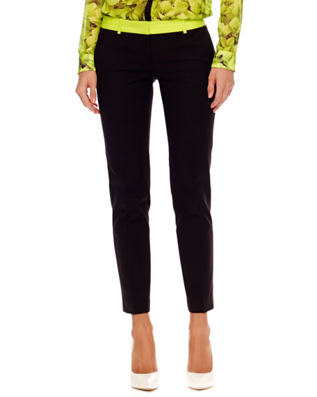 Neon-Trim Slim Pants