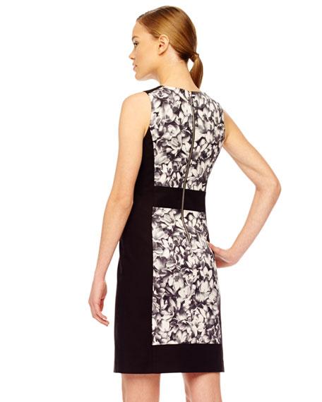 Floral-Panel Dress