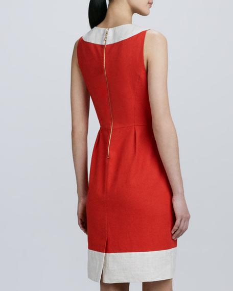 james two-tone sleeveless dress