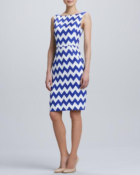 brent chevron pattern dress