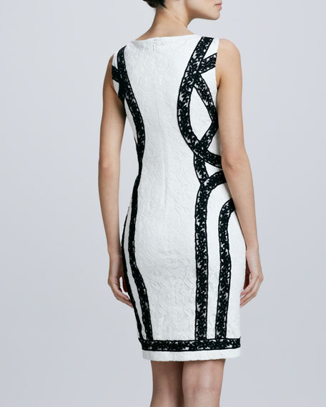 Lace Ribbon Cocktail Dress