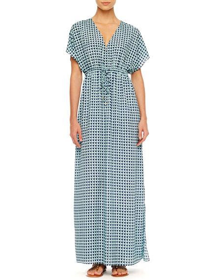 Printed Maxi Dress, Women's