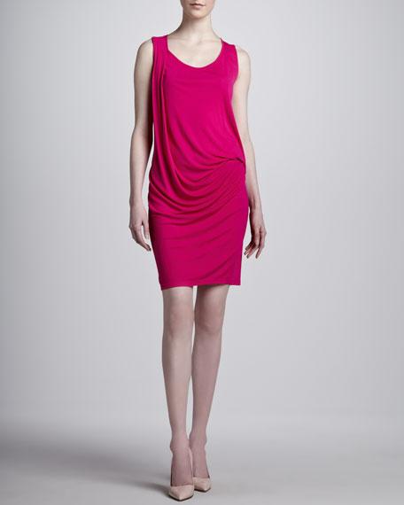 Crepe Jersey Tank Dress, Fuschsia