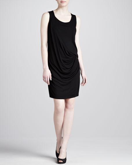 Crepe Jersey Tank Dress, Black