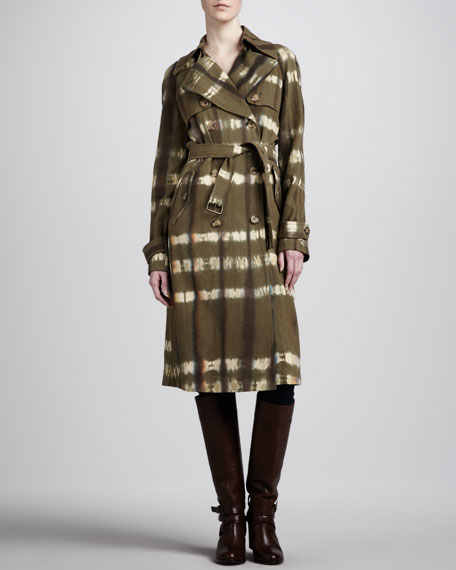Hemp Canvas Trench Coat