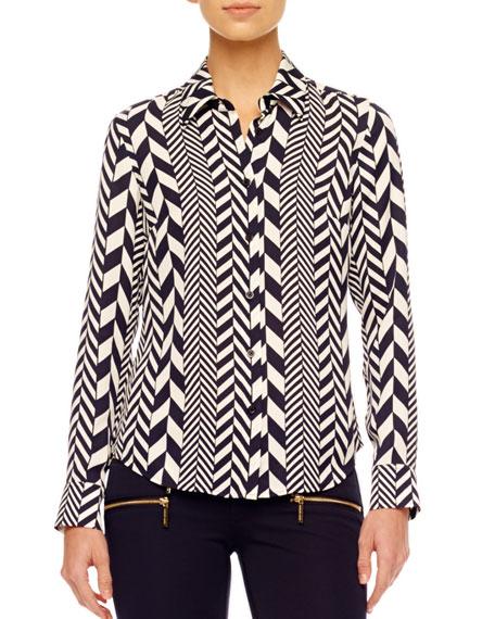 League-Stripe Blouse