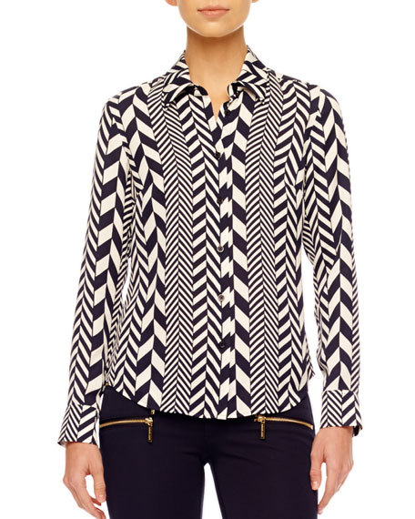 League-Stripe Blouse, Women's