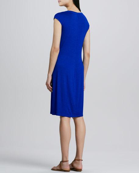 V-Neck Jersey Shift Dress