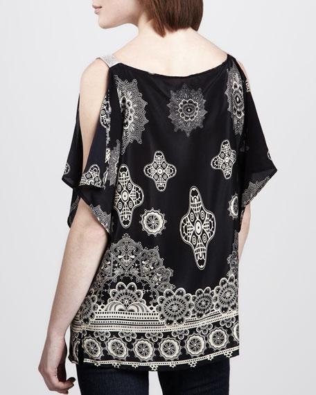 Ascot Printed Silk Top