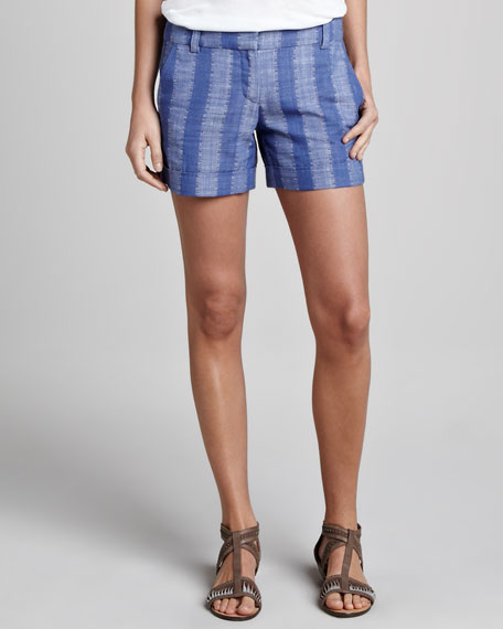 Meyer Striped Denim Shorts