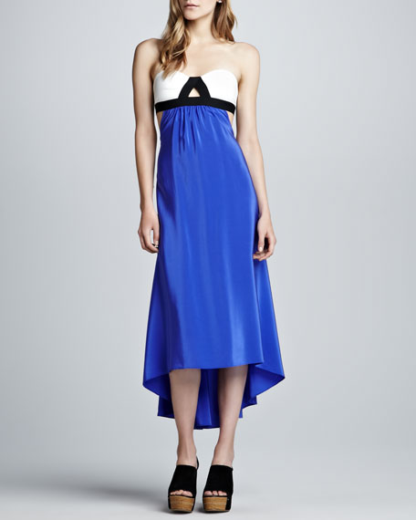 Grecian Colorblock Maxi Dress