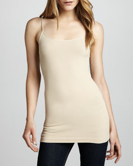 Cusp by Neiman Marcus Knit Jersey Camisole, Nude