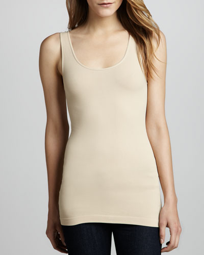 Cusp by Neiman Marcus Formfitting Jersey Tank, Nude