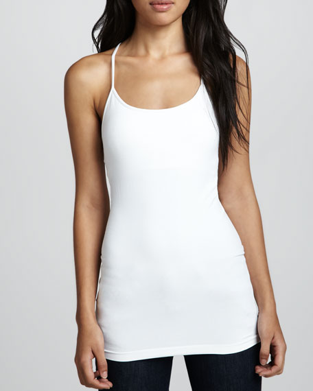 Racerback Formfitting Tank, White