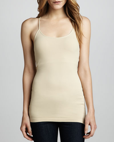 Cusp by Neiman Marcus Racerback Formfitting Tank, Nude