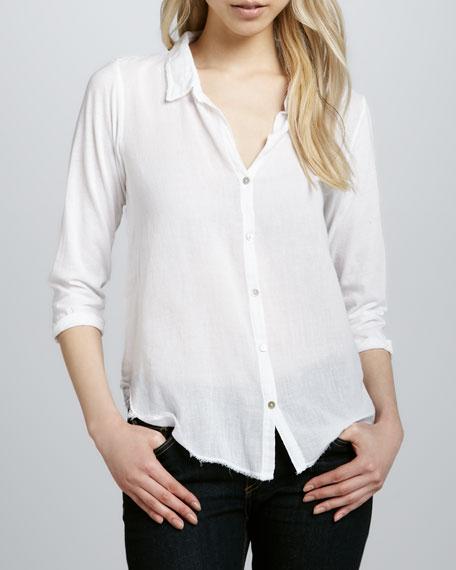 Long-Sleeve Gauze Shirt