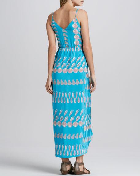 Shell-Print Maxi Dress