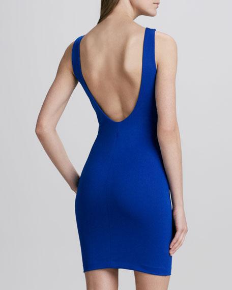 Scoop-Back Ponte Dress