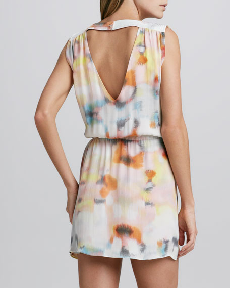 Karen Printed Silk Dress