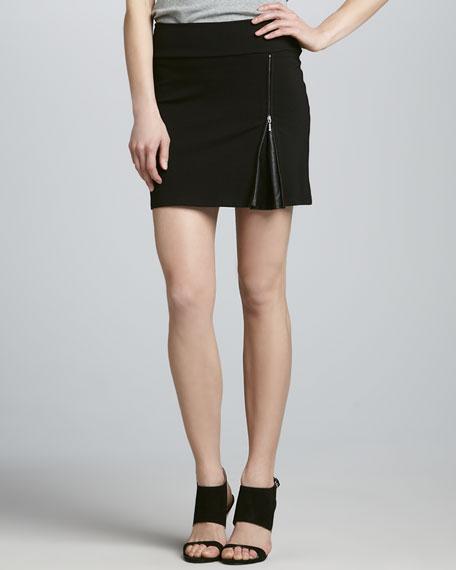 Peek-A-Boo Ponte Skirt
