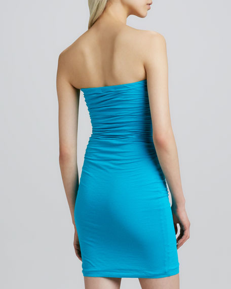 Fitted Strapless Ruched Dress