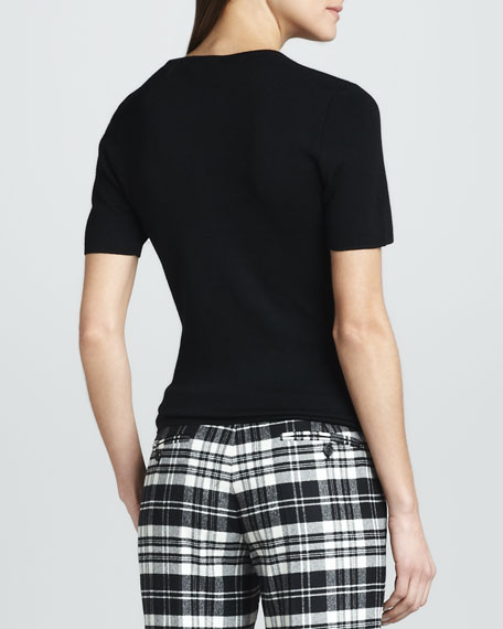 Cashmere Tee, Black