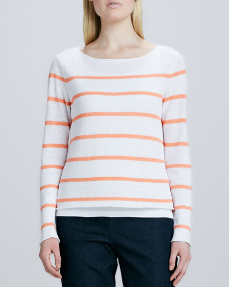 Skinny Striped Boxy Top