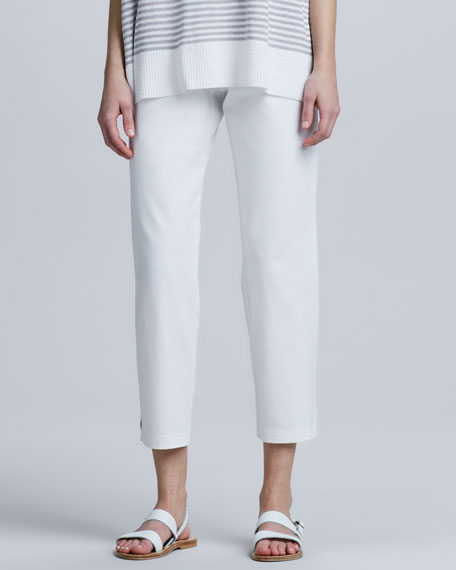 Organic Cotton Slim Ankle Pants