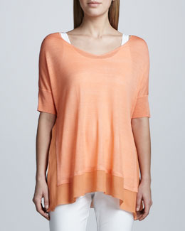 Eileen Fisher Silk Tussah Box Top