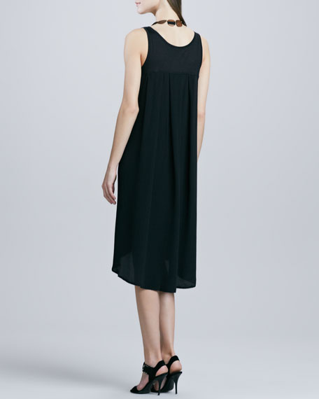 Sleeveless High-Low Jersey Dress