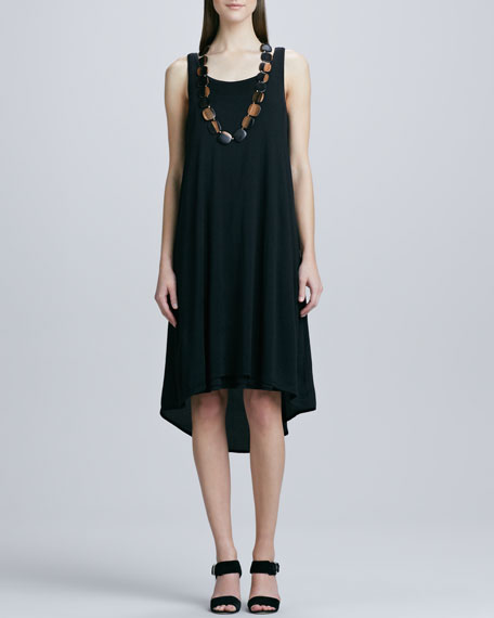 Sleeveless High-Low Jersey Dress, Petite