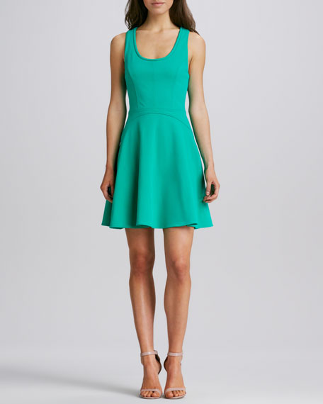 Scoop-Neck Fit-and-Flare Dress