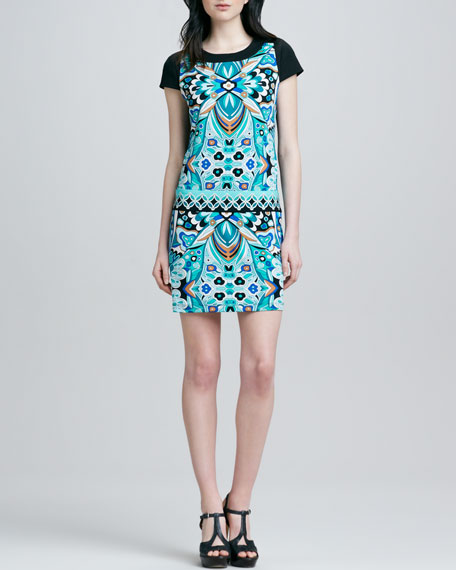 Kaleidoscope-Print Jersey Dress