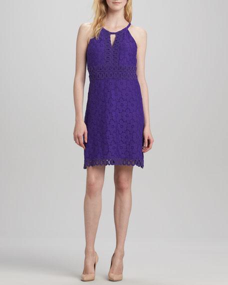 Halter Keyhole Lace Dress