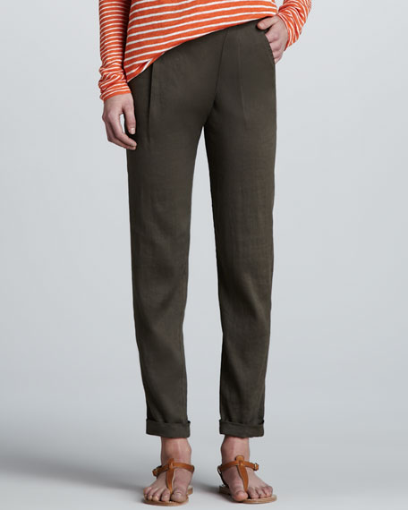 Asymmetric Flax Pants