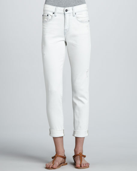 Distressed Relaxed Cropped Jeans
