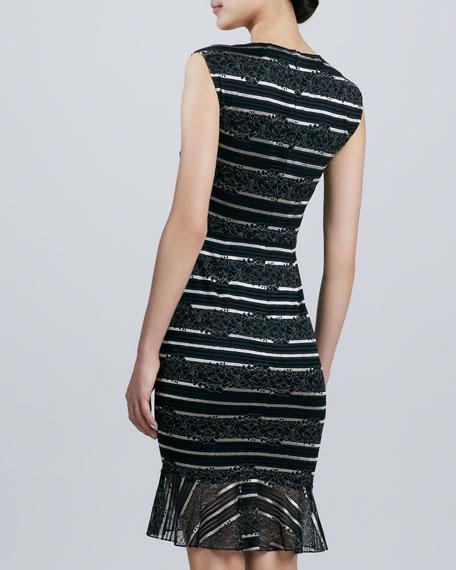 Square-Neck Lace Cocktail Dress