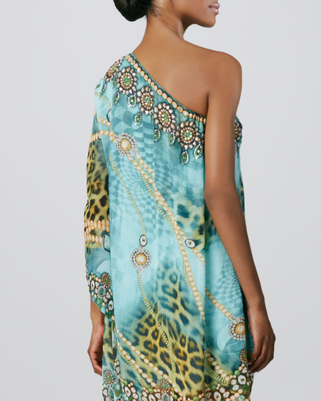 One-Shoulder Cocktail Caftan