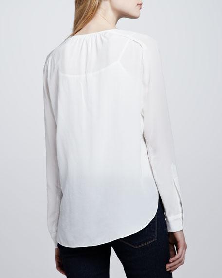 Lace-Front Blouse