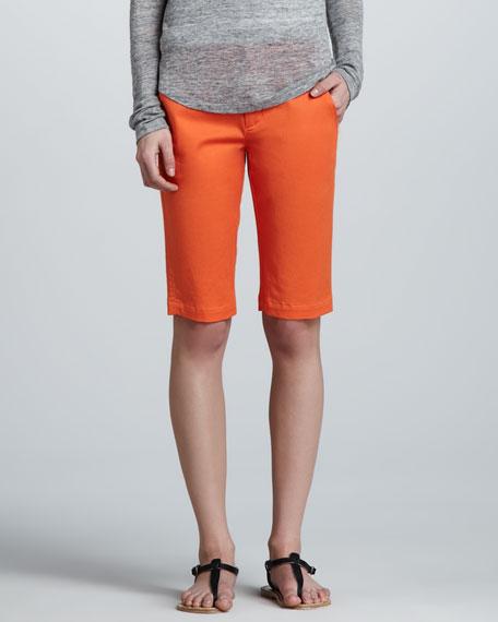 Side-Buckle Bermuda Shorts