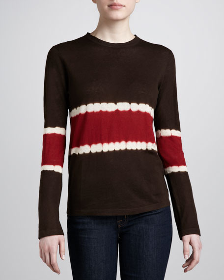 Striped Cotton-Linen Sweater